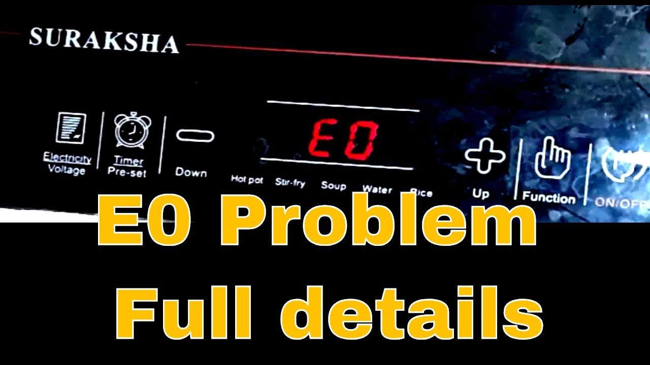 Repair E0 Error In Induction Cooker