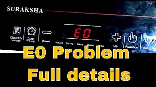 E0 problem and its cause of induction cooktop and IGBT Failure Solution.