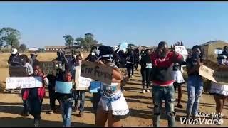 South African girls protest against Gender Based Violence