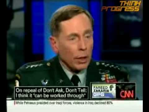 Petraeus Says He Served With Gay CIA Officers,