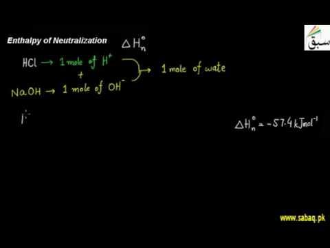 Enthalpy of Neutralization, Thermochemistry, Chemistry