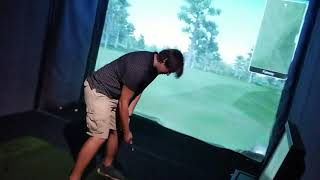 Blake And I Golfing At Dave & Busters