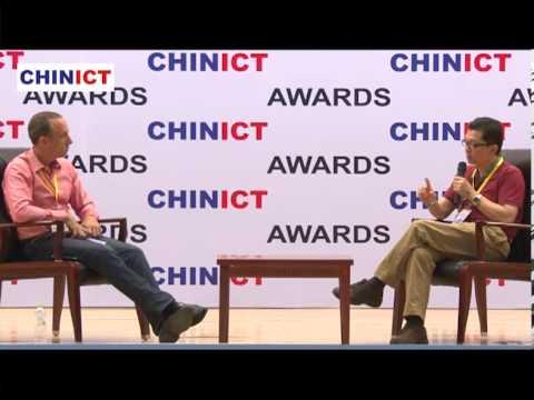 Qihoo360's VP Xiaosheng Tan speaks at CHINICT in Beijing.