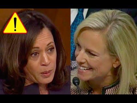 Kirstjen Nielsen LAUGHS at Senator Kamala Harris and Makes Her Look Like A Fool