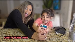 MOM REACTS TO 6 YEAR OLD AVA'S CAMERA ROLL ON HER IPHONE X!!!