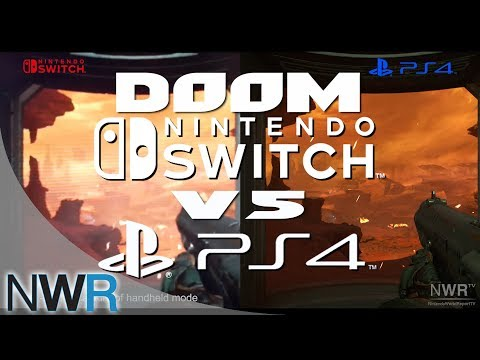 DOOM Switch VS PS4 Comparison (New Gameplay)