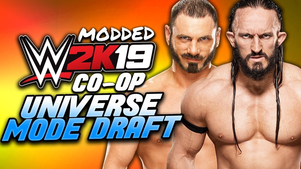 WWE 2K19 Co-Op Universe Mode | THE MODDED DRAFT CONTINUES!! | Part 2