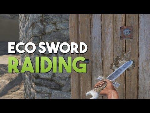 ECO SWORD RAIDING! - Rust SOLO Survival #4 | S5
