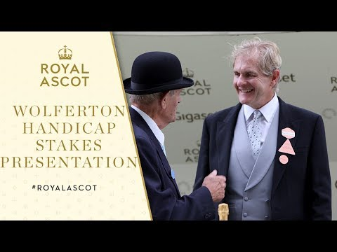 Royal Ascot 2017  Robert Bathurst presents Wolferton Handicap Stakes trophies