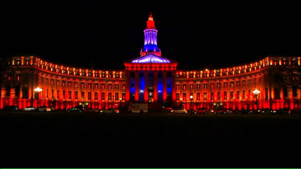 Denver Christmas Light Show (City U0026 County Building)