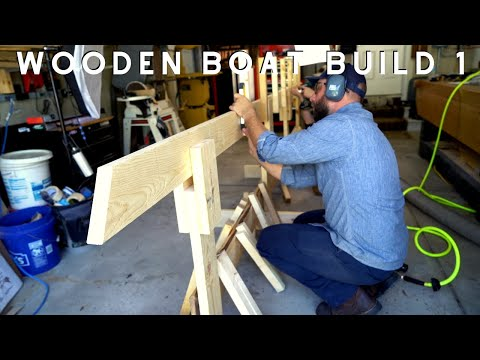 Wooden Boat Build // Part 1: Intro and Strongback  //  Drift Boat Power Drifter