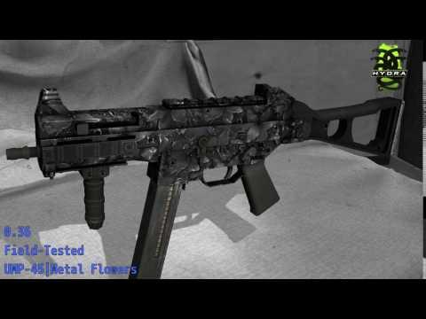 UMP-45 Metal Flowers - Skin Wear Preview