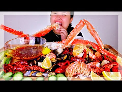 SEAFOOD BOIL WITH BLOVES SAUCE MUKBANG 먹방 | EATING SHOW