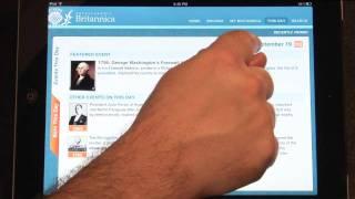Encyclopaedia Britannica iPad App Demo