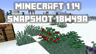 Minecraft 1.14 Snapshot 18w49a - Berry Bushes and MORE new villages!
