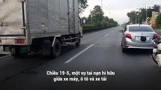 Tai nạn giao thông của 1 thanh niên và 1 người phụ nữ Nhầm ngày tết trung thu