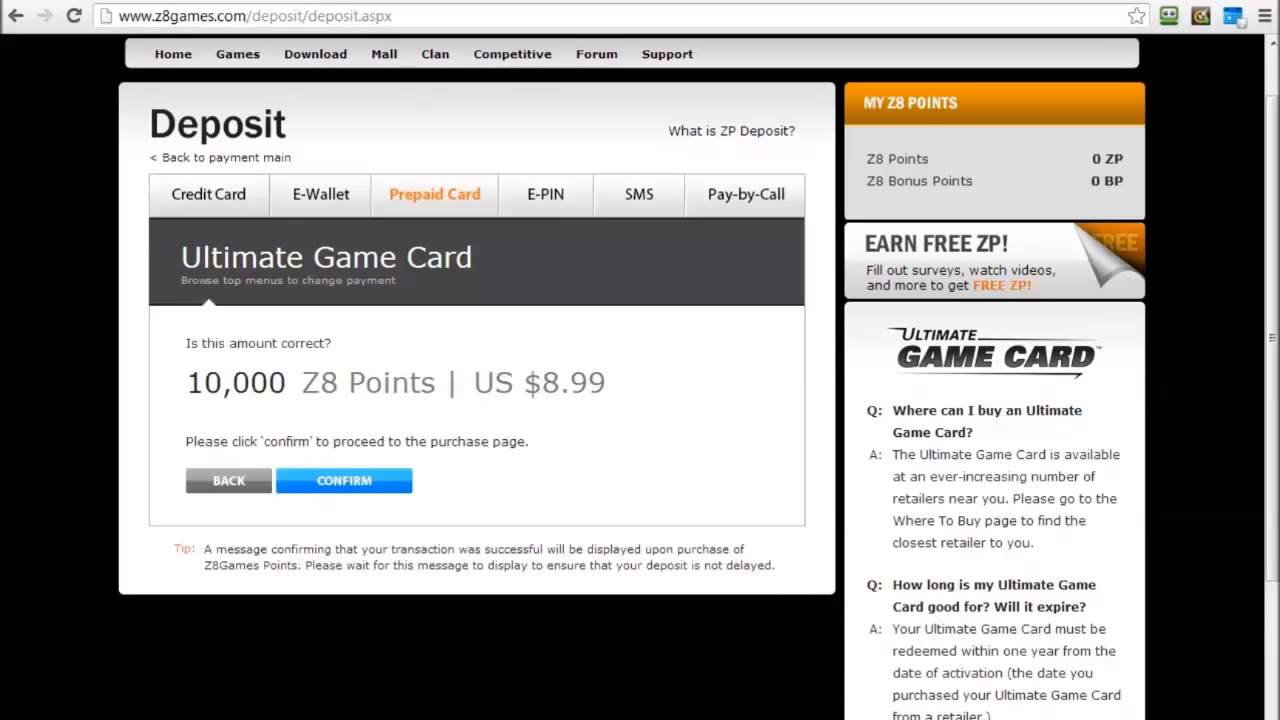 How to Redeem Ultimate Game Card, UGC Card - YouTube