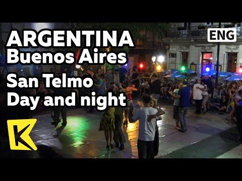 【K】Argentina Travel-Buenos Aires[아르헨티나 여행-부에노스아이레스]산텔모 지구 낮과 밤/Open air cafe/Tango/San Telmo