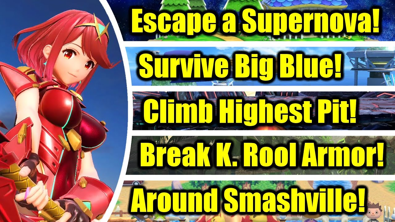 Can Pyra & Mythra Beat These 30 Challenges in Super Smash Bros. Ultimate?