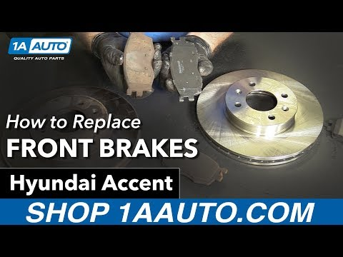 How to Replace Install Front Brakes 2007 Hyundai Accent