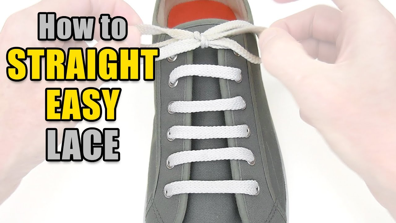 how to change shoe laces