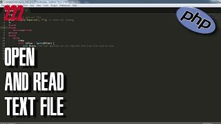 LEARN PHP How to open and read text file