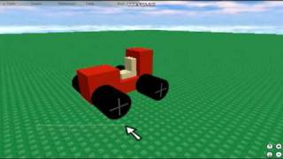 ROBLOX Tutorial August 2009 - How to make a Car on ROBLOX - Winner!