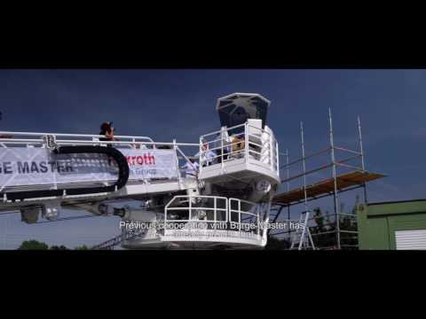 Next Generation motion compensated Gangway of Barge Master & Bosch Rexroth - demoday
