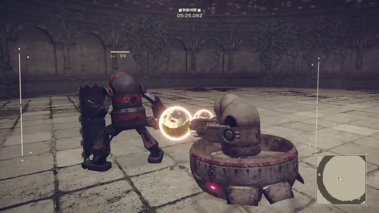 尼爾:自動人形-Very hard版DLC機械競技場EX - YouTube