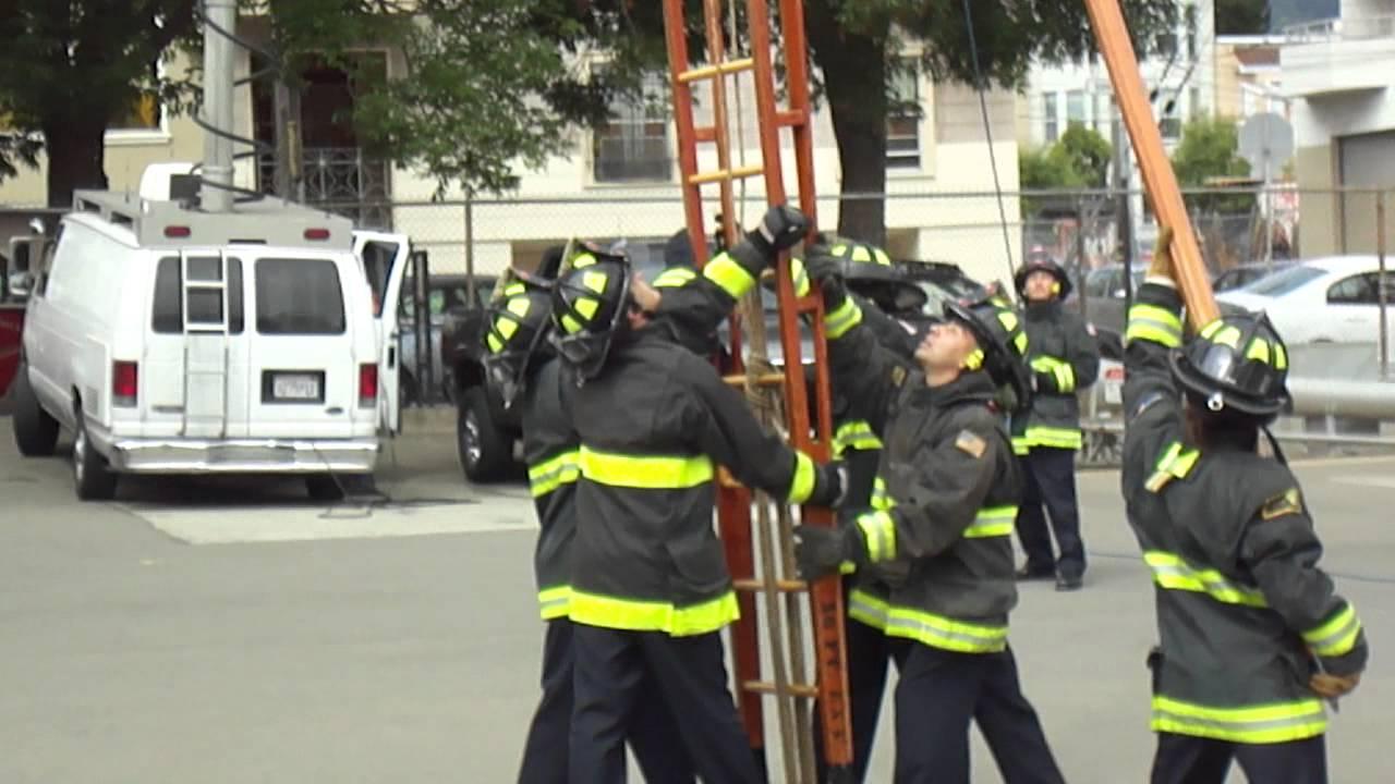 San Francisco Fire Department Badasses Vertical 50 Foot Ladder