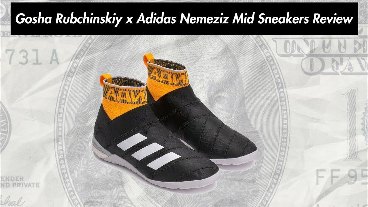 0dbb2fef25ab Gosha Rubchinskiy x Adidas Nemeziz Mid Sneakers Review - YouTube