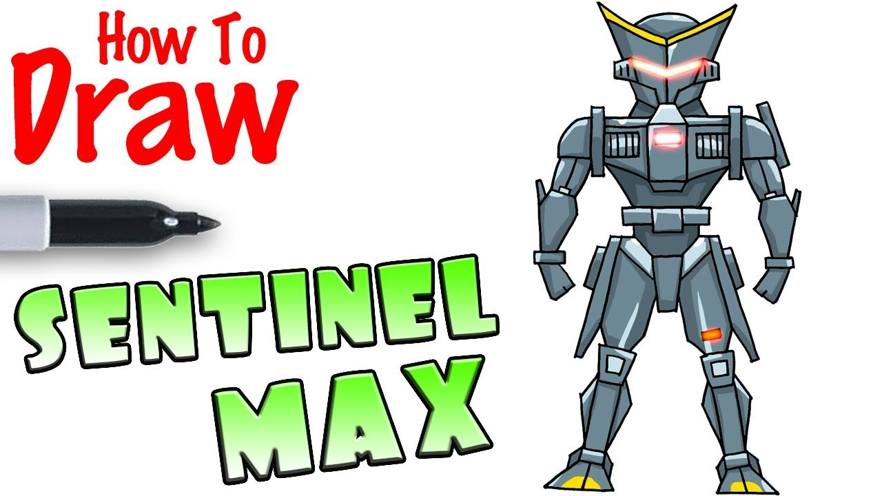 How To Draw Sentinel Max Fortnite
