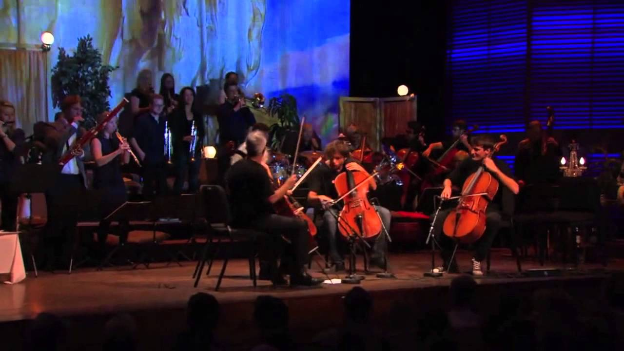 Cello Biennale Amsterdam 2014 - 2CELLOS, Maisky & Sollima playing Thunderstruck