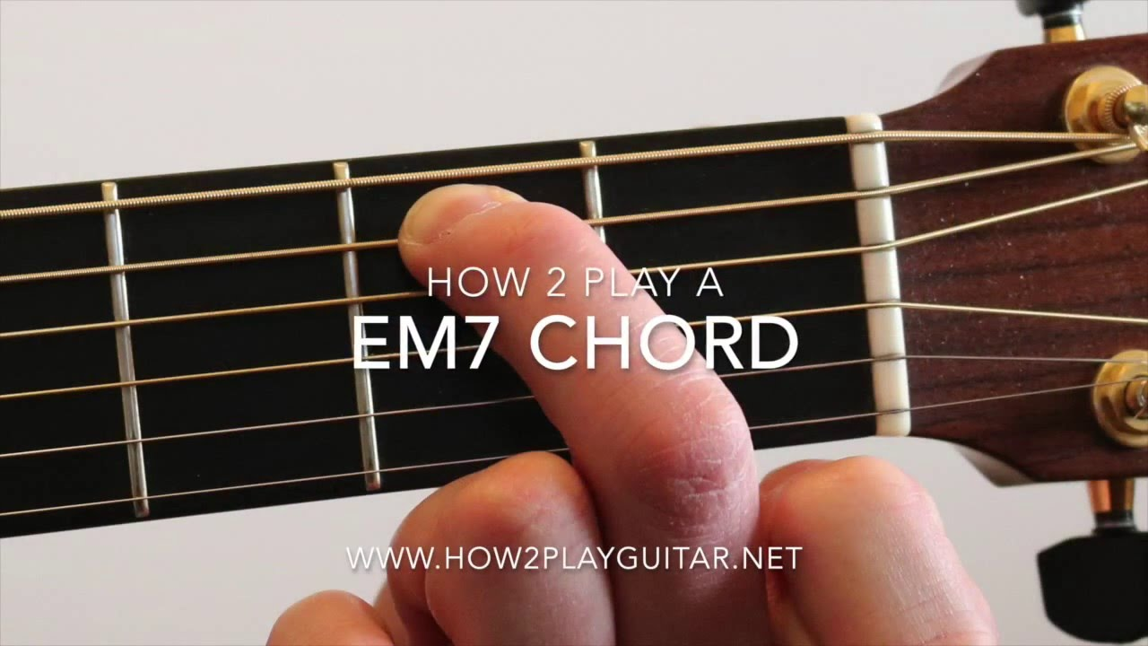 How To Play A Em7 Chord On Guitar Youtube