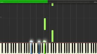 Cinderella (2015) - Trailer + Aeon Music - Synthesia Piano [Advanced]