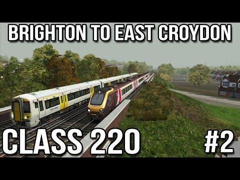 Brighton to Croydon Part #2 - Voyager Class 220 (Train Simulator 2014)