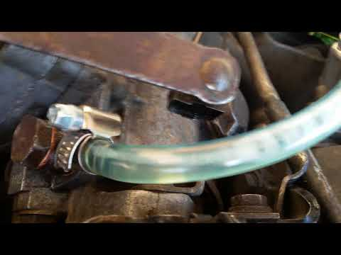 Air Bubbles In Fuel Line From IP Injection Pump Diesel