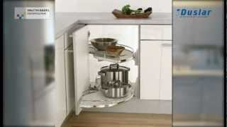 Карусель 2/4 на оси для нижних угловых шкафов от Vauth-Sagel(На видео представлены варинаты механизма
