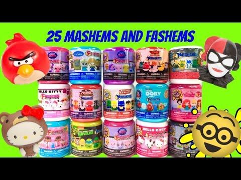 25 Mashems and Fashems Toys! Splat Balls, Angry Birds, Princesses