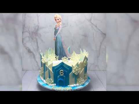 Hướng dẫn làm bánh kem hình elsa - How To Make Elsa Cake | Foci