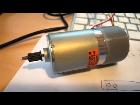 First test of magnetic encoder - YouTube