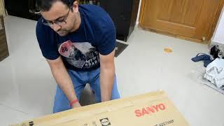 Sanyo 109 cm Full HD IPS LED TV XT-43S7300F  Unboxing & Testing