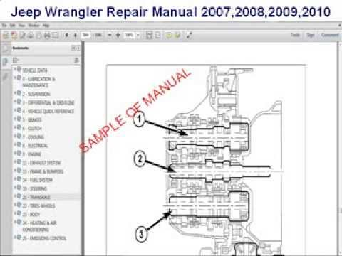 jeep wrangler repair manual 2007 2008 2009 2010 youtube rh youtube com Jeep Wrangler Parts 1997 Jeep Wrangler TJ
