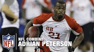 Adrian Peterson (Oklahoma, RB) | 2007 NFL Combine Highlights