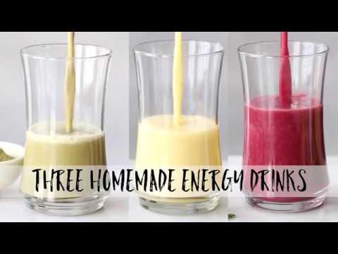 3 Homemade Energy Drinks
