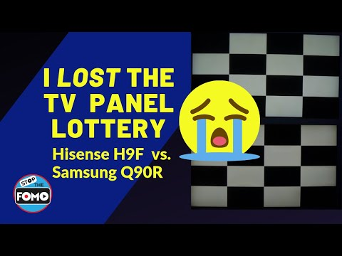 Hisense H9F Dirty Screen Effect Test vs QLED Flagship TV Samsung Q90R