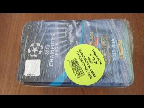 COLLECTORS TIN (GER editon) panini adrenalyn xl uefa champions league 2013/2014 opening & review