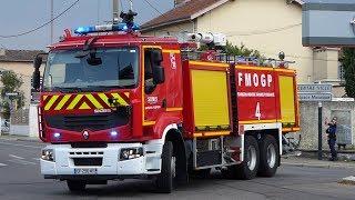 Arrivée des Pompiers sur feu de déchetterie