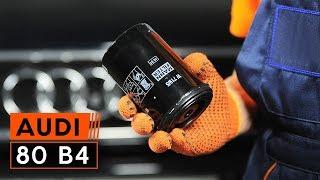 Як поміняти моторне масло і масляний фільтр на AUDI 80 B4 [ІНСТРУКЦІЯ]