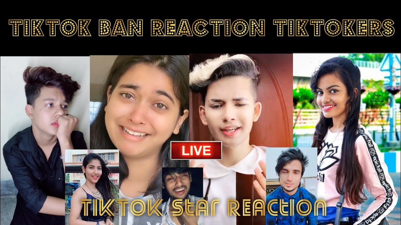 TikTokers Reaction on TikTok Ban | TikTok Ban in India | Tiktok Ban Reaction all Tiktokers Star